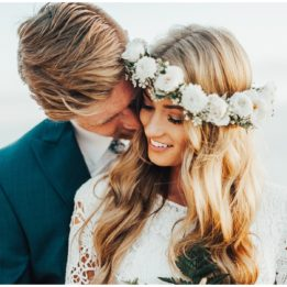 California beach wedding, bohemian elopement