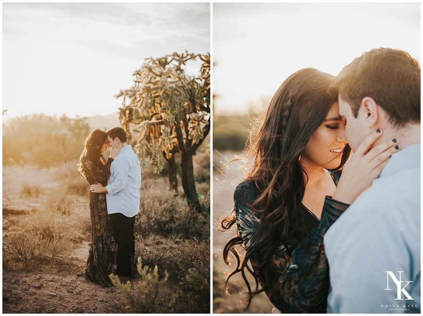 romantic arizona desert engagement, Arizona wedding photographer